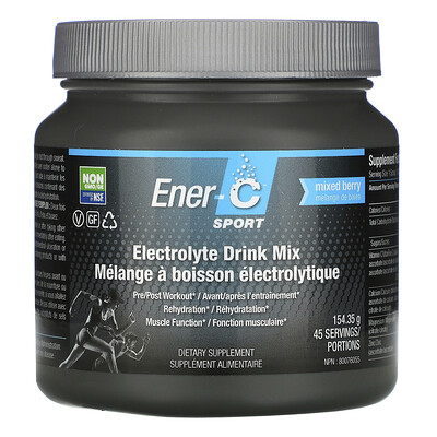 Купить Ener-C Sport, Electrolyte Drink Mix, Mixed Berry, 154.35 g