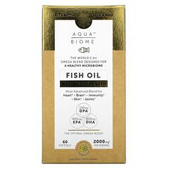 Enzymedica, Aqua Biome,魚油,特強型,檸檬味,1,000 毫克,60 粒軟凝膠