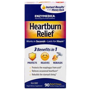 Энзаймедика, Heartburn Relief, Vanilla-Orange Flavored, 90 Relief Chews отзывы покупателей