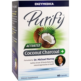 Enzymedica, Purify, Activated Coconut Charcoal+, 60 Capsules
