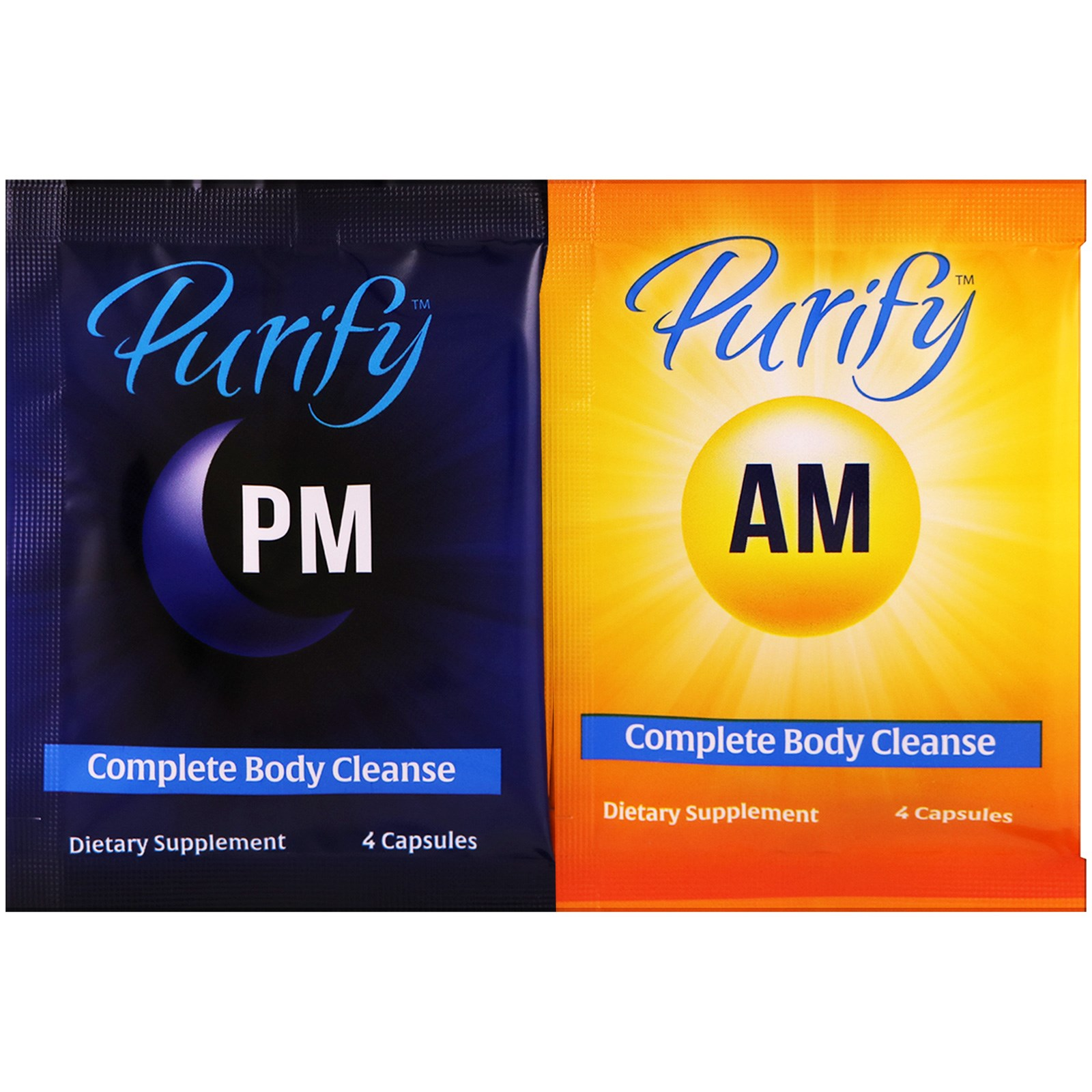Enzymedica, Purify, 10 Day Complete Body Cleanse, AM 10 Packs / PM - 10  Packs