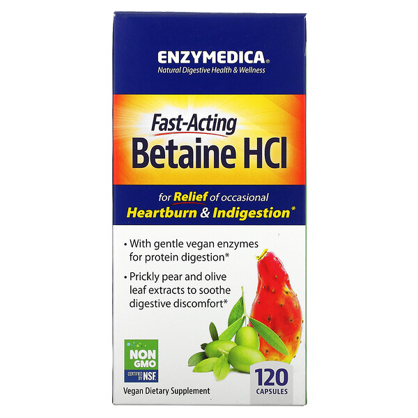 Enzymedica, Betaine HCL, 120 Capsules