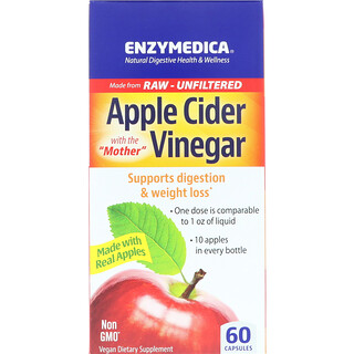 Enzymedica, Apple Cider Vinegar, 60 Capsules