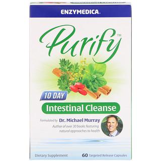 Enzymedica, ピューリファイ10日間腸内クレンズ、ターゲットリリースカプセル60個