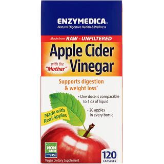 Enzymedica, яблочный уксус с уксусной маткой, 120капсул
