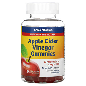 Enzymedica, Apple Cider Vinegar Gummies, 74 Vegan Gummies