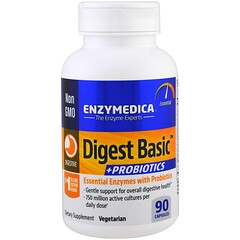 Enzymedica, 助消化基本要素 + 益生菌,90粒膠囊