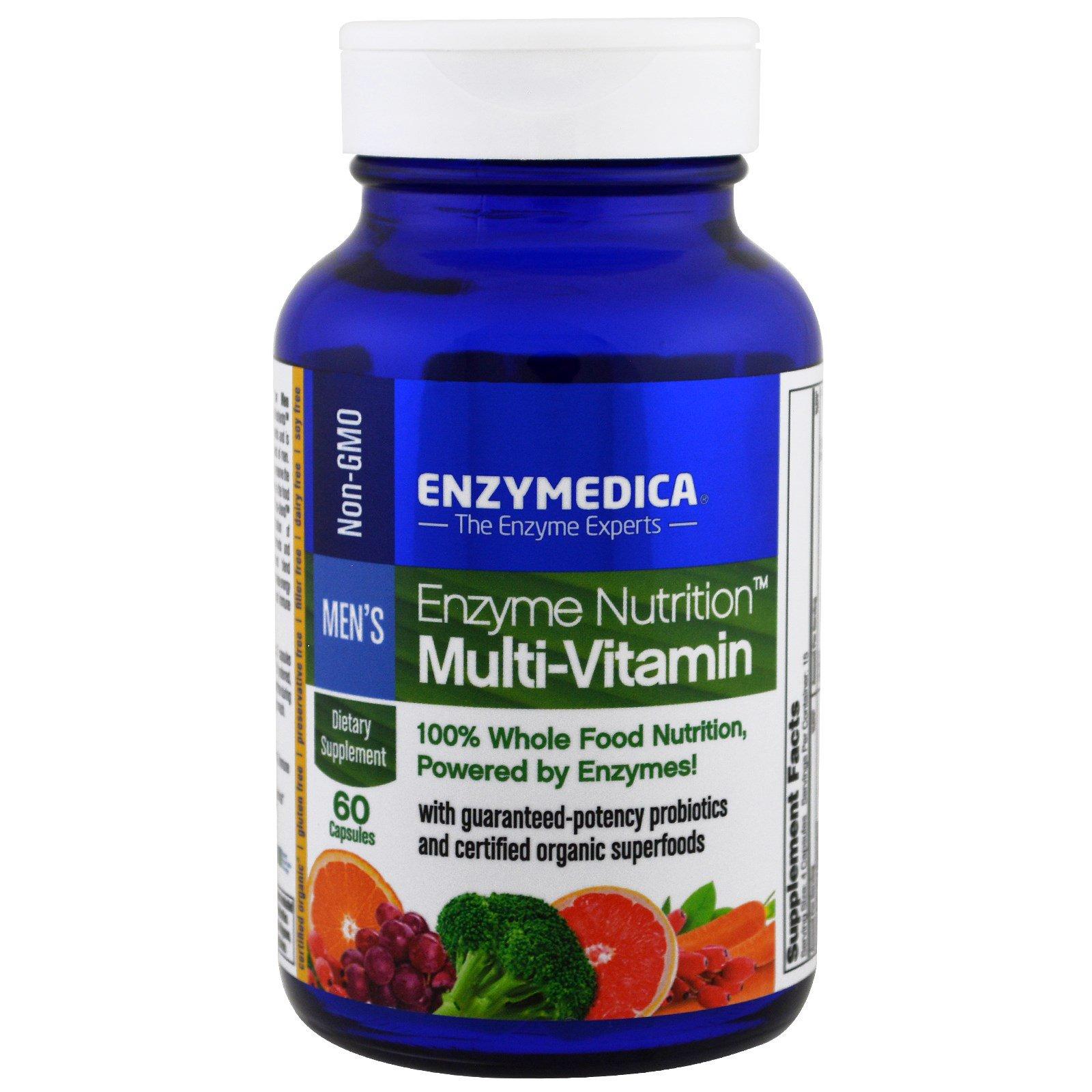Enzymedica, Белковое питание, мультивитамины для мужчин, 60 капсул
