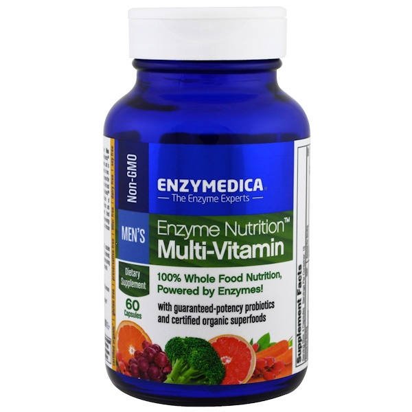 Enzymedica, Enzyme Nutrition Multi-Vitamin, Men's, 60 Capsules (Discontinued Item)
