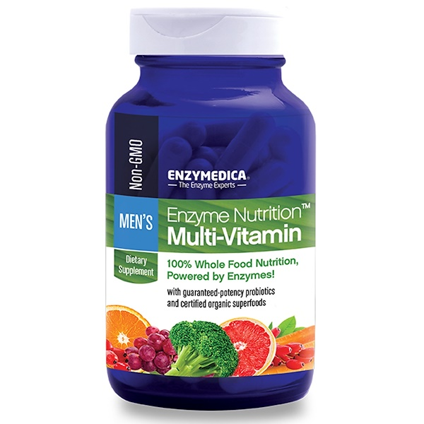 Enzymedica, Enzyme Nutrition Multi-Vitamin, Men's, 120 Capsules