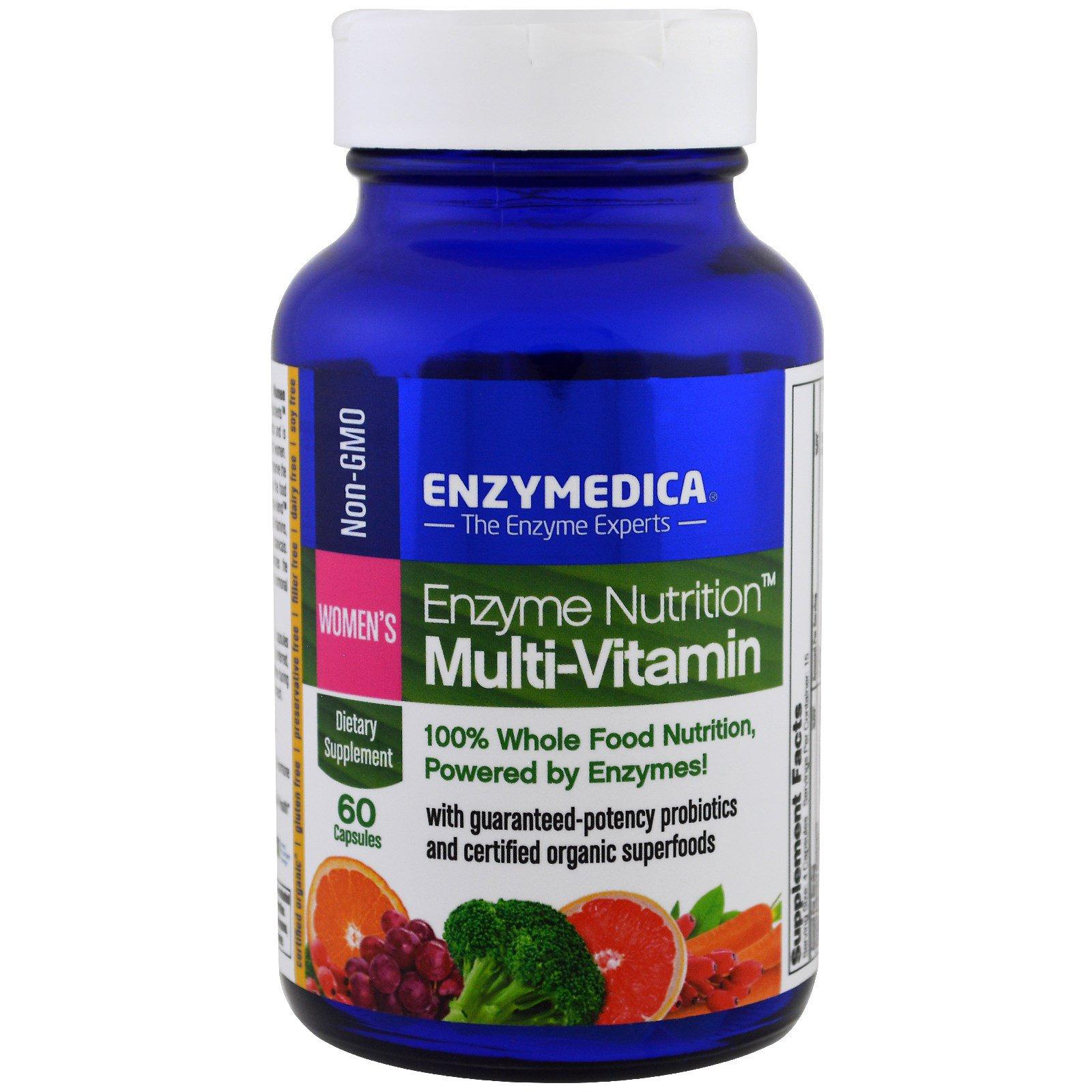 Enzymedica, Белковое питание, мультивитамины для женщин, 60 капсул