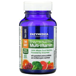 Enzymedica, Suplemento multivitamínico EnzymeNutrition, Dos ingestas diarias, 60cápsulas