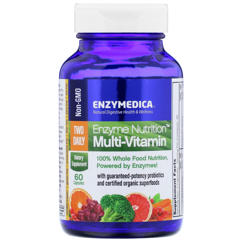 Enzyme Nutrition Multi-Vitamin, Two Daily, 60 Capsules