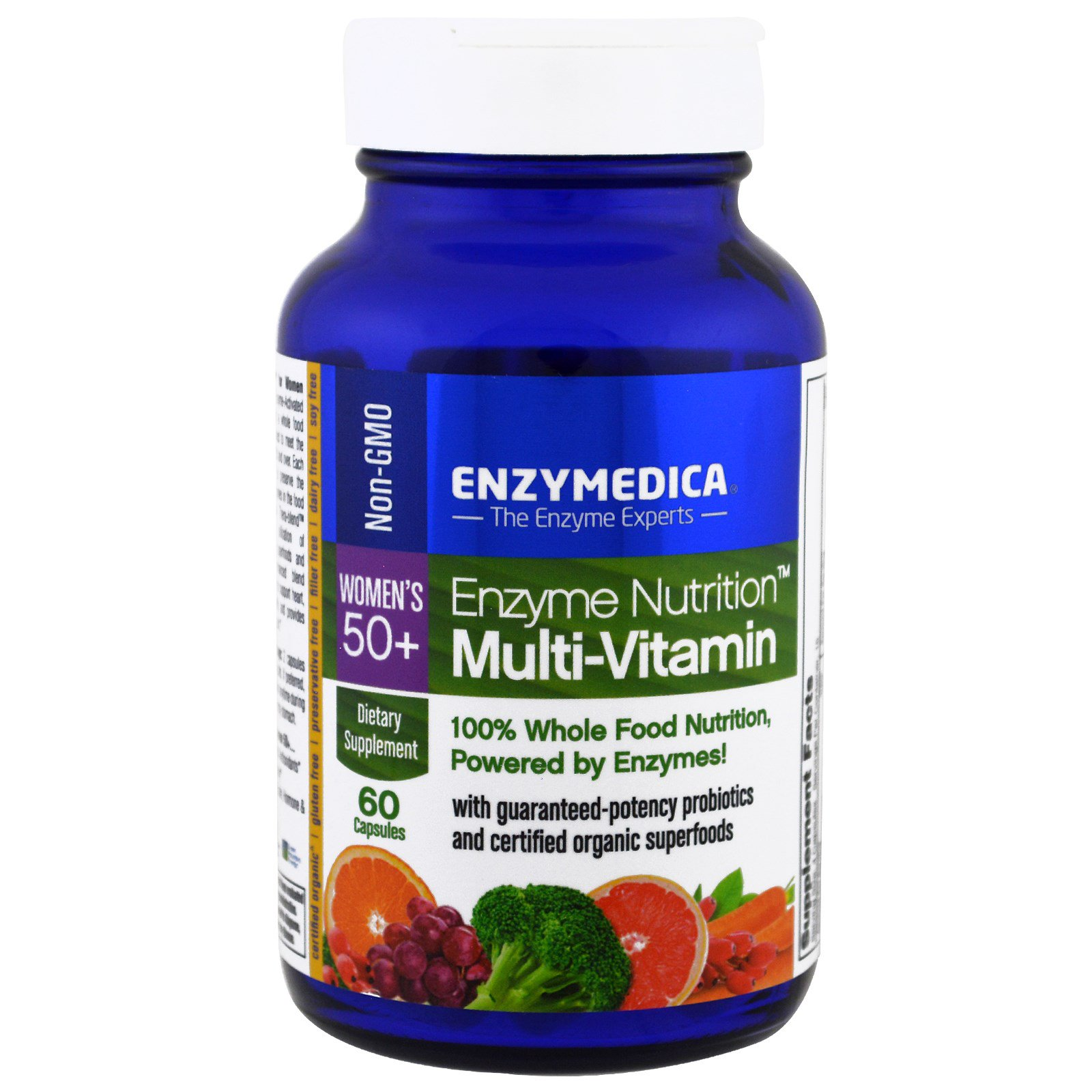 Enzymedica, Белковое питание, мультивитамины для женщин 50+, 60 капсул