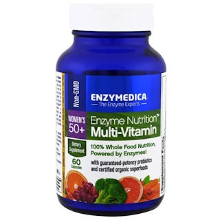 Enzymedica, Enzyme Nutrition, Multi-Vitamin, Women's 50+, 60 Capsules