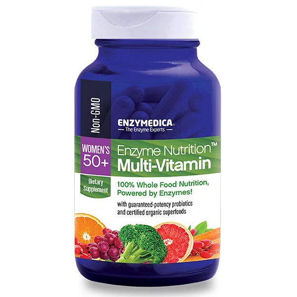 Enzymedica, Enzyme Nutrition Multi-Vitamin, Women's 50+, 120 Capsules