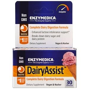 Энзаймедика, DairyAssist, 30 Capsules отзывы