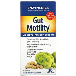 Enzymedica, Gut Motility, Digestive Transport Support, 30 Capsules