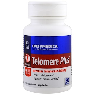 Enzymedica, Telomere Plus, 30 Capsules