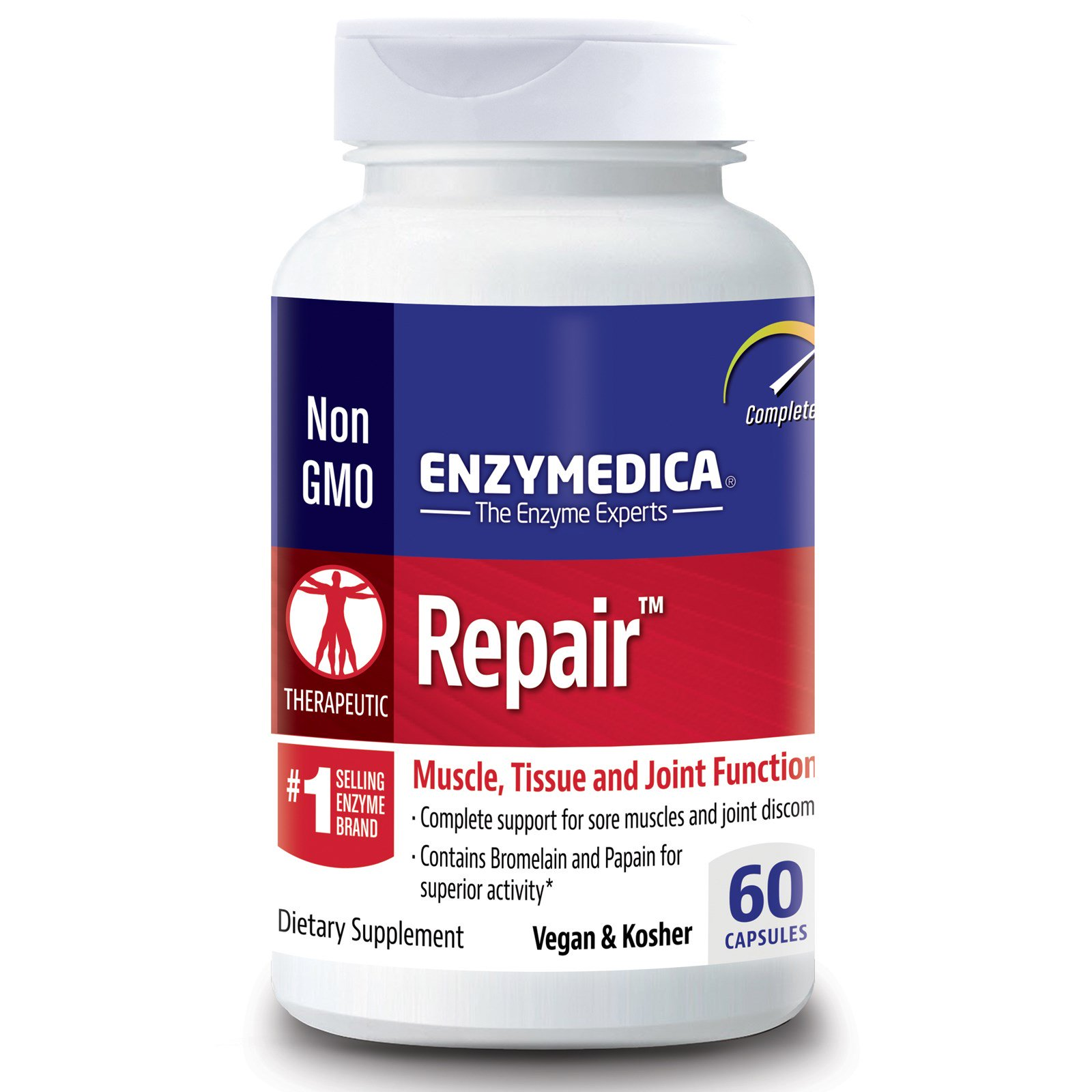 Enzymedica Repair Muscle Tissue And Joint Function 60 Capsules