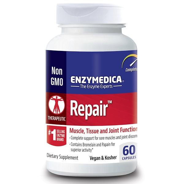 Enzymedica, Repair, Muscle, Tissue and Joint Function, 60 Capsules (Discontinued Item)