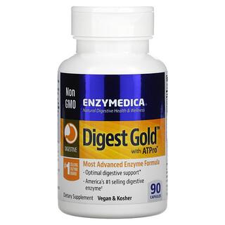 Enzymedica, DigestGold с ATPro, добавка с пищеварительными ферментами, 90капсул