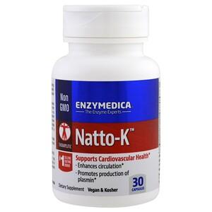 Enzymedica, Natto-K, 30 капсул инструкция, применение, состав, противопоказания