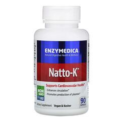 Enzymedica, 納豆 K,心血管,90 粒膠囊