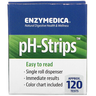 Enzymedica, pH-Strips, Dispensador en rollo individual de 16pies