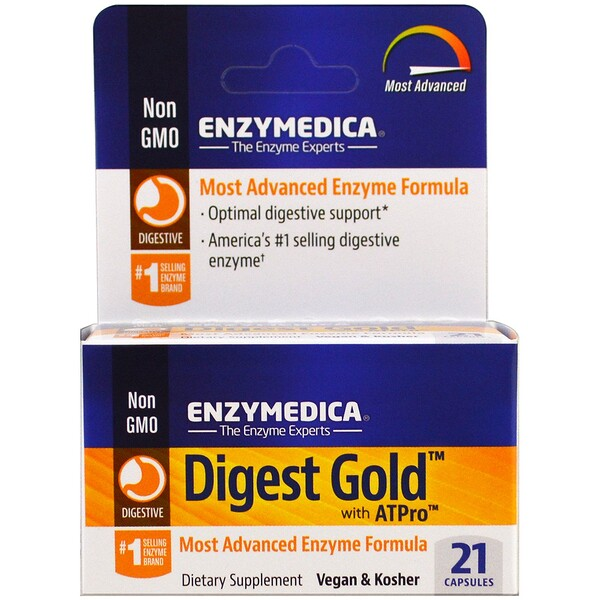 Enzymedica, Digest Gold مع ATPro ، 21 كبسولة