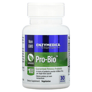 Enzymedica, Pro Bio(プロバイオ)、高サポート性プロバイオティクス、 30粒