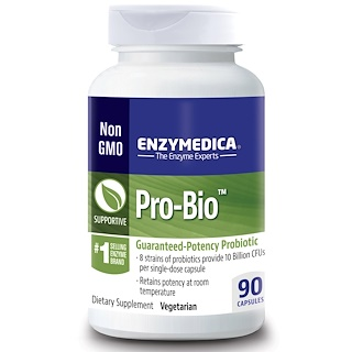 Enzymedica, Pro-Bio, Guaranteed Potency Probiotic, 90 Capsules