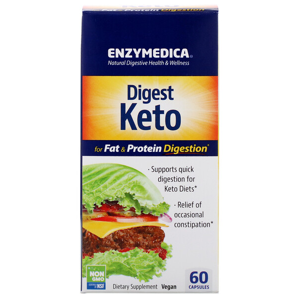 Enzymedica, Digest Keto, 60 Capsules