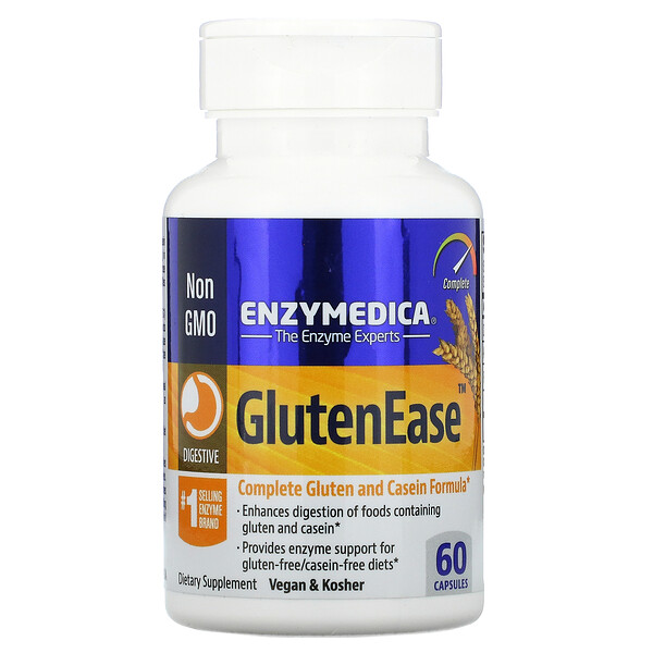 Enzymedica, GlutenEase, 60 Capsules