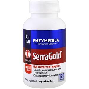 Энзаймедика, SerraGold, High Potency Serrapeptase, 120 Capsules отзывы
