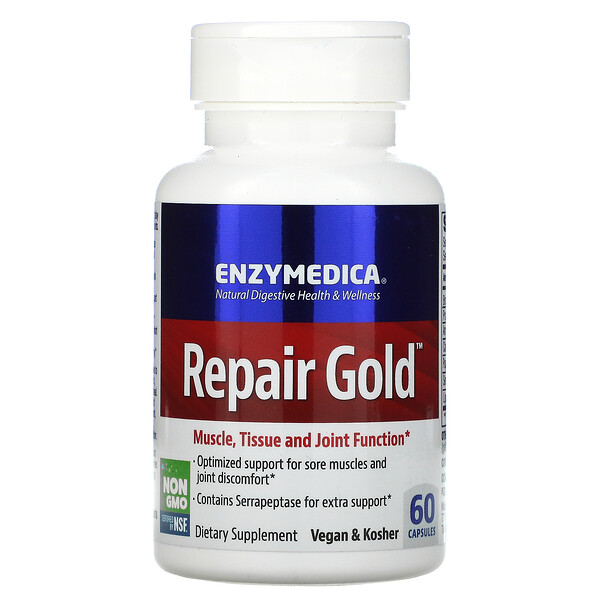 Enzymedica, Repair Gold, 60 капсул
