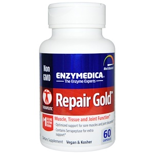 Enzymedica, Repair Gold, 60 капсул инструкция, применение, состав, противопоказания