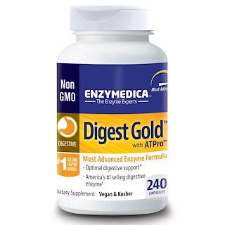Enzymedica, Digest Gold c ATPro, 240 капсул