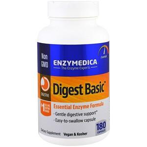 Энзаймедика, Digest Basic, Essential Enzyme Formula, 180 Capsules отзывы покупателей