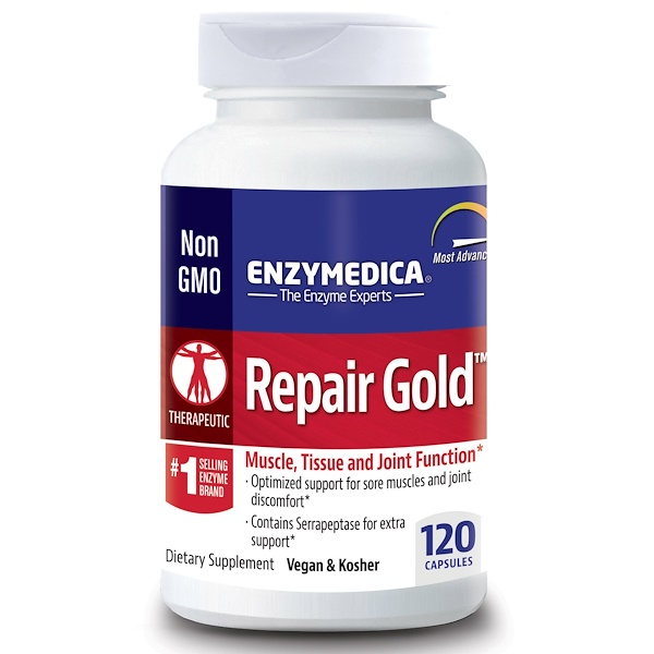 Enzymedica, Repair Gold, 120 Cápsulas