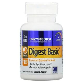 Enzymedica, DigestBasic, формула основных ферментов, 30капсул
