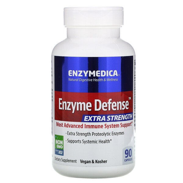 Enzyme Defense (Formerly ViraStop), Extra Strength, 90 Capsules