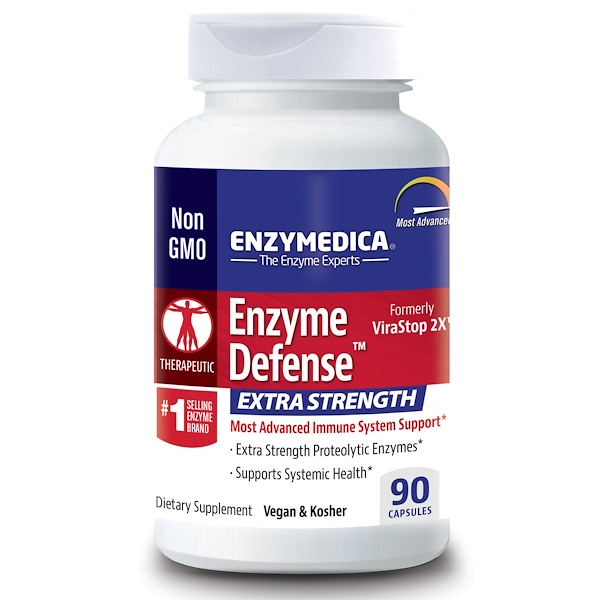 Enzymedica, Enzyme Defense (Formerly ViraStop), Extra Strength, 90 Capsules