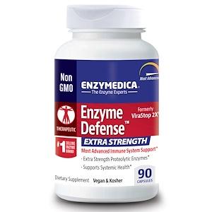 Enzymedica, Enzyme Defense, усиленный, 90 капсул инструкция, применение, состав, противопоказания