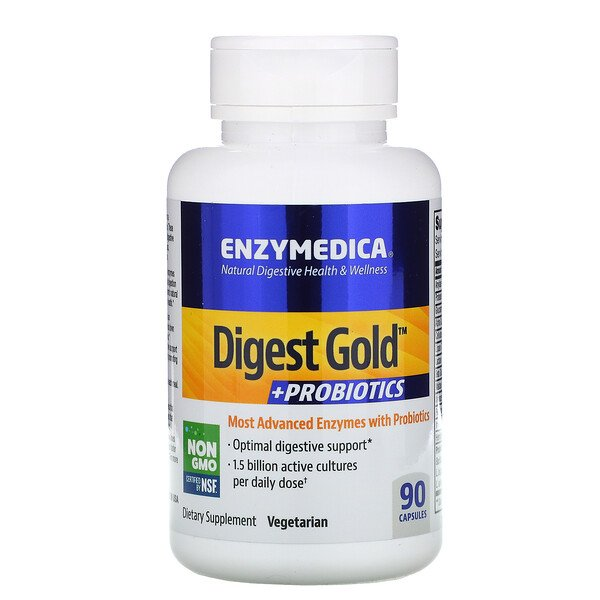 Digest Gold + Probiotics, 90 כמוסות