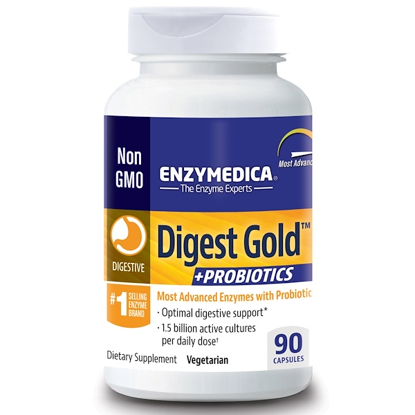 Digest Gold + Probiotics, 90 Capsules