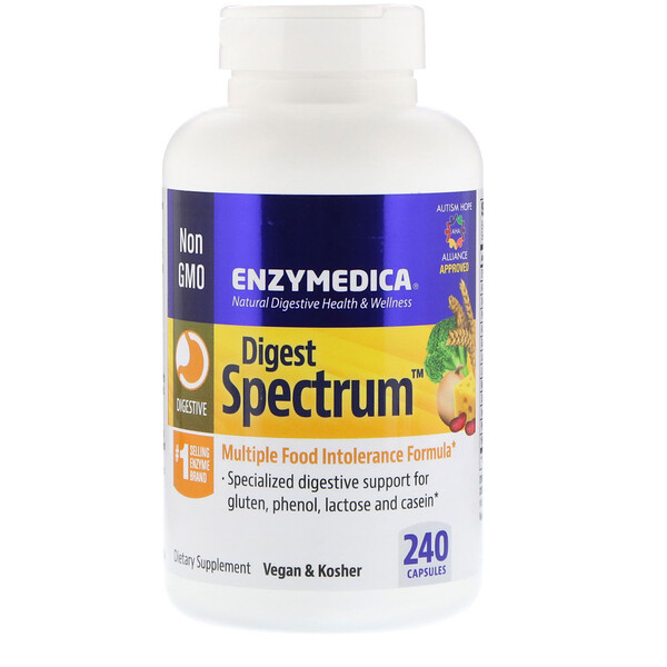 Enzymedica, Digest Spectrum, 240 капсул