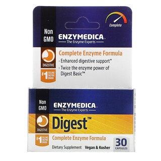 Enzymedica, Digest, Complete Enzyme Formula, 30 Capsules