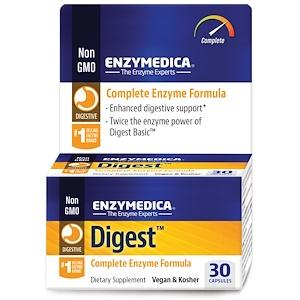 Энзаймедика, Digest, Complete Enzyme Formula, 30 Capsules отзывы покупателей