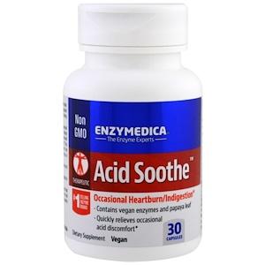 Enzymedica, Acid Soothe, 30 Capsules инструкция, применение, состав, противопоказания